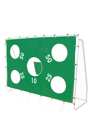 Football goal with target sheet